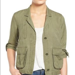 Madewell military cargo lightweight jacket green S